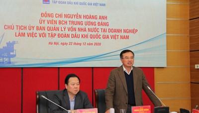 Chủ tịch UBQLVNN Nguyễn Hoàng Anh: Tiếp tục đồng hành cùng Petrovietnam tập trung, quyết liệt xử lý những vướng mắc