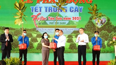 Thủ tướng Nguyễn Xuân Phúc dự Lễ phát động 'Tết trồng cây' tại Phú Yên