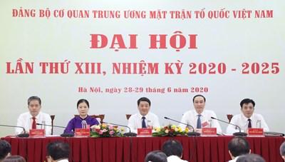 [ẢNH] Khai mạc Đại hội Đảng bộ cơ quan Trung ương MTTQ Việt Nam