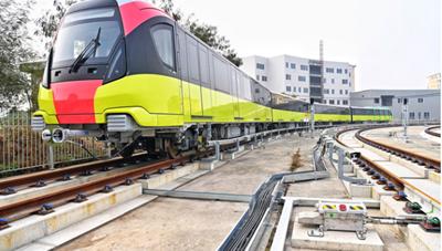 [VIDEO]: Toàn cảnh đoàn tàu đầu tiên của tuyến metro Nhổn - ga Hà Nội chạy thử