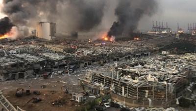Nổ kinh hoàng ở Lebadon, hơn 4.000 người thương vong