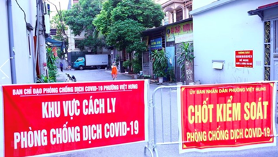 Hà Nội: 'Ổ dịch' phường Việt Hưng ghi nhận thêm ca dương tính mới