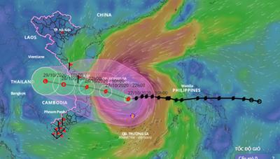 Clip: Bão số 9 bắt đầu ảnh hưởng đến Quảng Ngãi - Bình Định