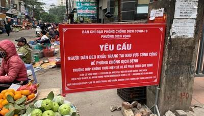 Hà Nội: Người dân chủ quan, lơ là trong phòng chống dịch Covid-19