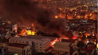 [VIDEO CLIP]: Cháy lớn tại nhà kho công ty dược phẩm Hà Tây
