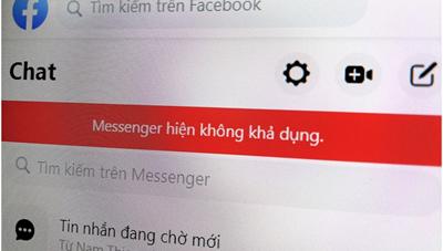 Facebook Messenger xảy ra lỗi trên cả máy tính và điện thoại