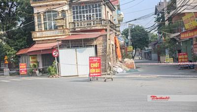 Quốc Oai, Hà Nội: Nhiều trụ sở, khu dân cư bị phong tỏa sau 6 ca nhiễm Covid-19