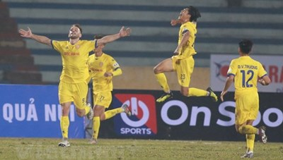 Nam Định thắng đậm Hà Nội trong ngày mở màn V-League 2021