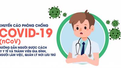 Hướng dẫn cách ly y tế tại nhà, nơi lưu trú để phòng chống bệnh Covid-19