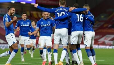 Liverpool 0-2 Everton: Anfield tiếp tục thành 'tử địa'