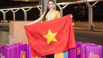 Ngọc Thảo mang gần 150 kg hành lý dự thi Miss Grand International