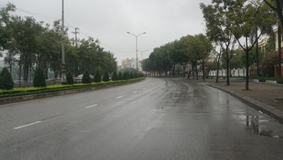 Đường phố Hải Dương 'vắng lặng như tờ' trong những ngày cuối cách ly