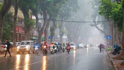 Khu vực Hà Nội có thể có mưa dông