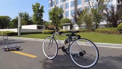 Kỹ sư Trung Quốc chế xe đạp tự thăng bằng dành cho người vụng về
