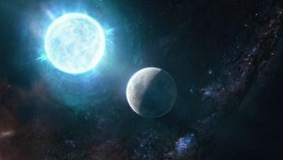 Sao lùn trắng nhỏ bằng Mặt Trăng nặng ngang Mặt Trời