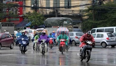 Không khí lạnh tăng cường, Trung và Nam Bộ có mưa dông