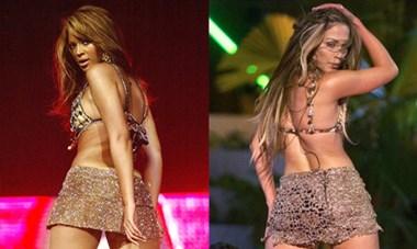 Những lần Jennifer Lopez và Beyonce mặc giống nhau