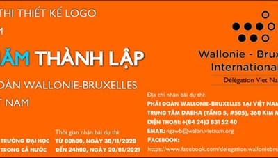 Thiết kế logo kỷ niệm 25 năm thành lập phái đoàn Wallonie - Bruxelles tại Việt Nam