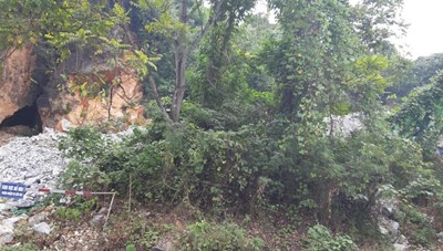 Tuyên Quang: Bị 'móc ruột', núi Dùm chờ sập
