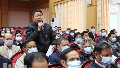 Duy Tiên (Hà Nam): Bí thư Thị ủy đối thoại với dân
