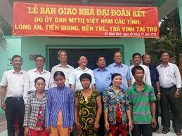 Cụm thi đua các tỉnh Bắc Sông Hậu: Bàn giao 5 căn nhà ở cho hộ nghèo tỉnh Trà Vinh