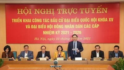 Hà Nội tổ chức hội nghị triển khai công tác bầu cử