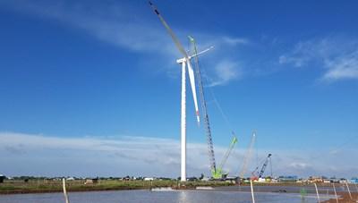 Tập đoàn Kosy đẩy nhanh tiến độ thi công nhà máy Điện gió Kosy Bạc Liêu trước 'giờ G'
