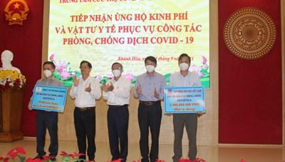 Mặt trận tỉnh Khánh Hòa tiếp nhận nguồn lực ủng hộ phòng chống Covid