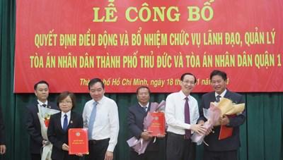 Thẩm phán Nguyễn Thành Vinh được điều động làm Chánh án TAND TP Thủ Đức