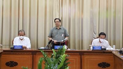 Thủ tướng Phạm Minh Chính: Cả nước mong chờ và tin tưởng TP HCM vượt qua đại dịch Covid-19