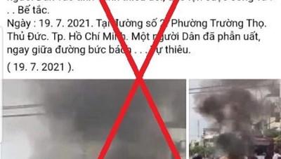 TP Hồ Chí Minh đã tìm được người tung tin xuyên tạc về nam thanh niên tự thiêu