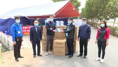 MTTQ huyện Lương Tài tiếp nhận ủng hộ phòng, chống dịch Covid - 19