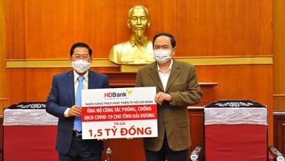 HDBank ủng hộ 1,5 tỷ đồng, tiếp sức người dân nơi tâm dịch Hải Dương