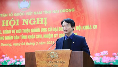 Hải Dương: Hướng dẫn giới thiệu người ứng cử đại biểu Quốc hội và đại biểu HĐND tỉnh