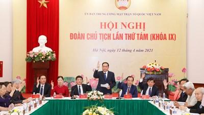 Hội nghị lần thứ tám Đoàn Chủ tịch UBTƯ MTTQ Việt Nam khóa IX