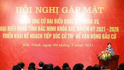 Bắc Ninh: Triển khai kế hoạch tiếp xúc cử tri để vận động bầu cử