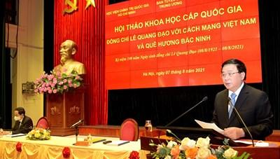 Hội thảo quốc gia kỷ niệm 100 năm Ngày sinh đồng chí Lê Quang Đạo