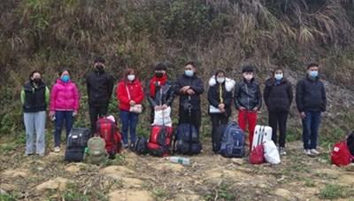 Lạng Sơn phát hiện 14 công dân nhập cảnh trái phép