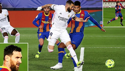 Real Madrid 2-1 Barcelona: Nỗi thất vọng Messi
