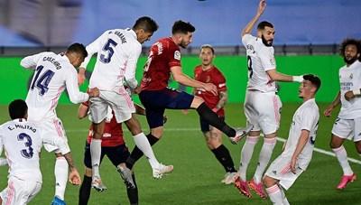 Đánh bại Osasuna, Real Madrid bám đuổi quyết liệt Atletico