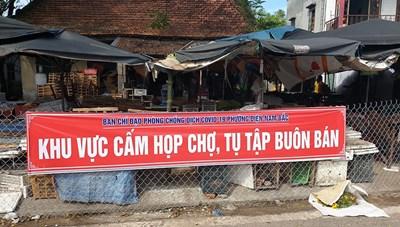 Quảng Nam: Phong tỏa chợ nơi vợ bệnh nhân 905 từng đến