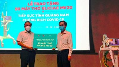 Sở Y tế Quảng Nam tiếp nhận 50 máy thở Eliciae MV20