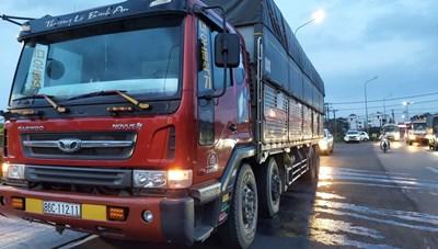 Đồng Nai: Xe tải chở cát lậu quá tải hàng chục tấn, tài xế không có giấy phép lái xe