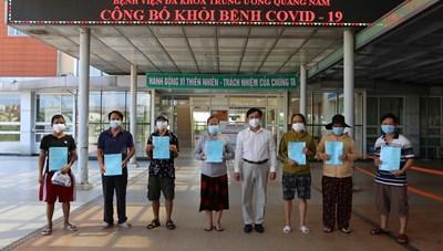 Quảng Nam: Thêm 13 bệnh nhân Covid-19 xuất viện