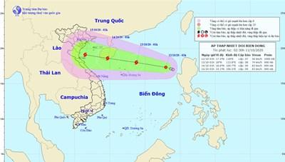 Áp thấp nhiệt đới khả năng mạnh lên thành bão, miền Trung tiếp tục mưa lớn