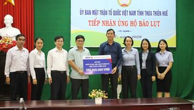 Mặt trận Thừa Thiên-Huế tiếp nhận ủng hộ, tổ chức cứu trợ đồng bào vùng lũ