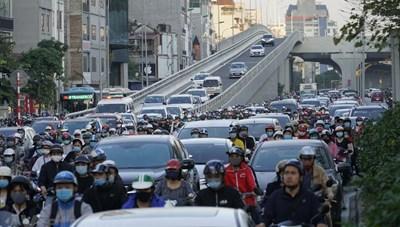 Hà Nội: Thông đường vành đai 2, Ngã Tư Sở vẫn tiếp tục ùn tắc