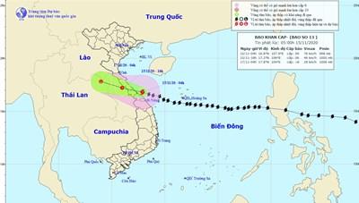 Nghệ An đến Thừa Thiên-Huế mưa lớn do bão số 13