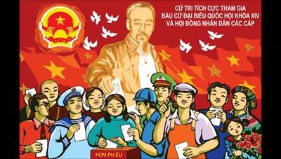 Sáng tác tranh cổ động tuyên truyền bầu cử đại biểu Quốc hội