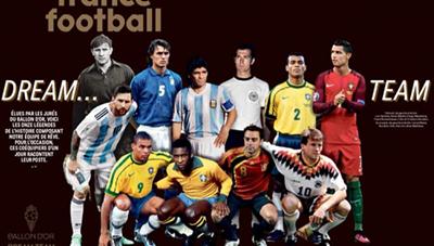 Ronaldo, Messi vào đội hình 'Quả Bóng Vàng trong mơ'